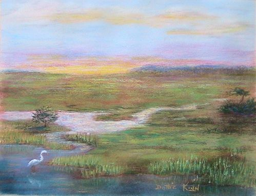 Custom Made St. Simons Marsh -- Pastel Painting