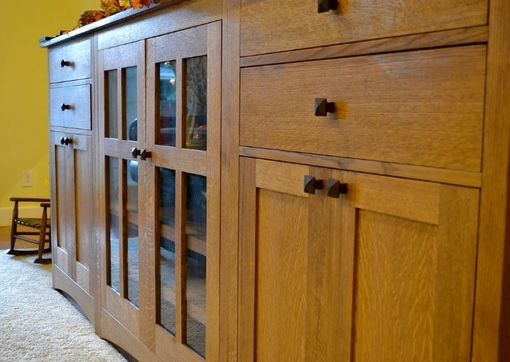 Custom Made Craftsman Style Entertainment Center