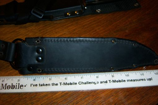 Custom Made Custom Leather Sheath For This Clasic Cold Steel Black Bear