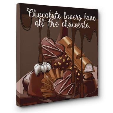 Custom Made Chocolate Lovers Canvas Wall Art