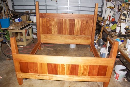 Custom Made African Mahogany Kingbed