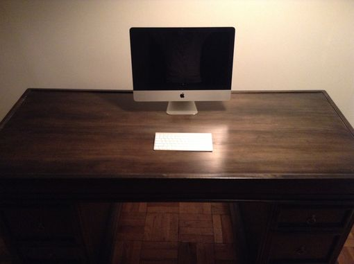 Custom Made Solid Wood Handcrafted Executive Big Boss Desk W/ 4 Drawers