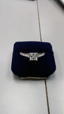 Custom Made Ascher Cut Diamond Engagement Ring