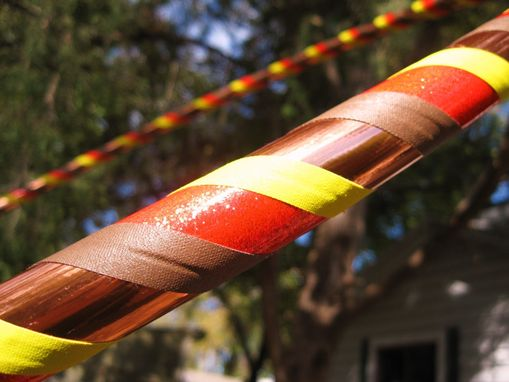 "Custom Made Collapsible Travel Hula Hoop - ""Starstruck"" - Weighted - Pink, Yellow, Copper, Brown"