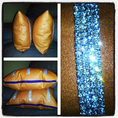 Custom Made Orange Peel Diamond Throw Pillows