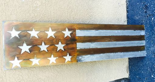 Custom Made Distressed American Flag