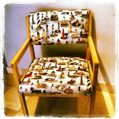 Custom Made Set Of 2 Decorative Nautical Style Chairs