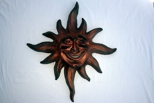Custom Made Clay Sun With Face