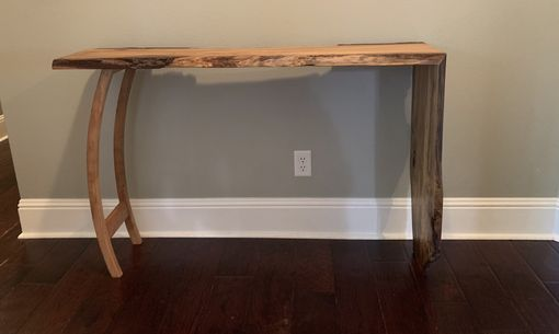Custom Made Live Edge Waterfall Table