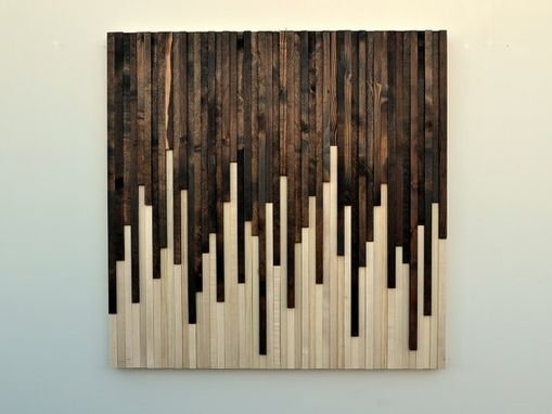 Custom Made Wood Wall Art - Reclaimed Wood Art Sculpture