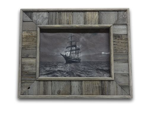 Custom Made Beaded Barn Wood Picture Frame