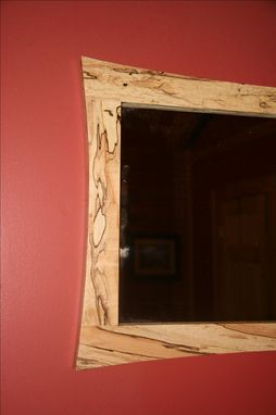 Custom Made Curved Edge Spalted Maple Mirror