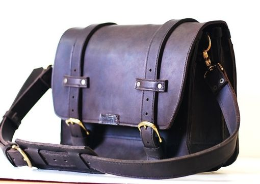 Custom Made Leather Computer Bag For Men - Genuine Leather Bag - A Leather Shoulder Bag