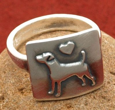 Custom Made Small Jack Russell With Heart Ring