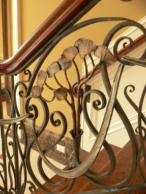 Custom Made Bronze Gingko Railing