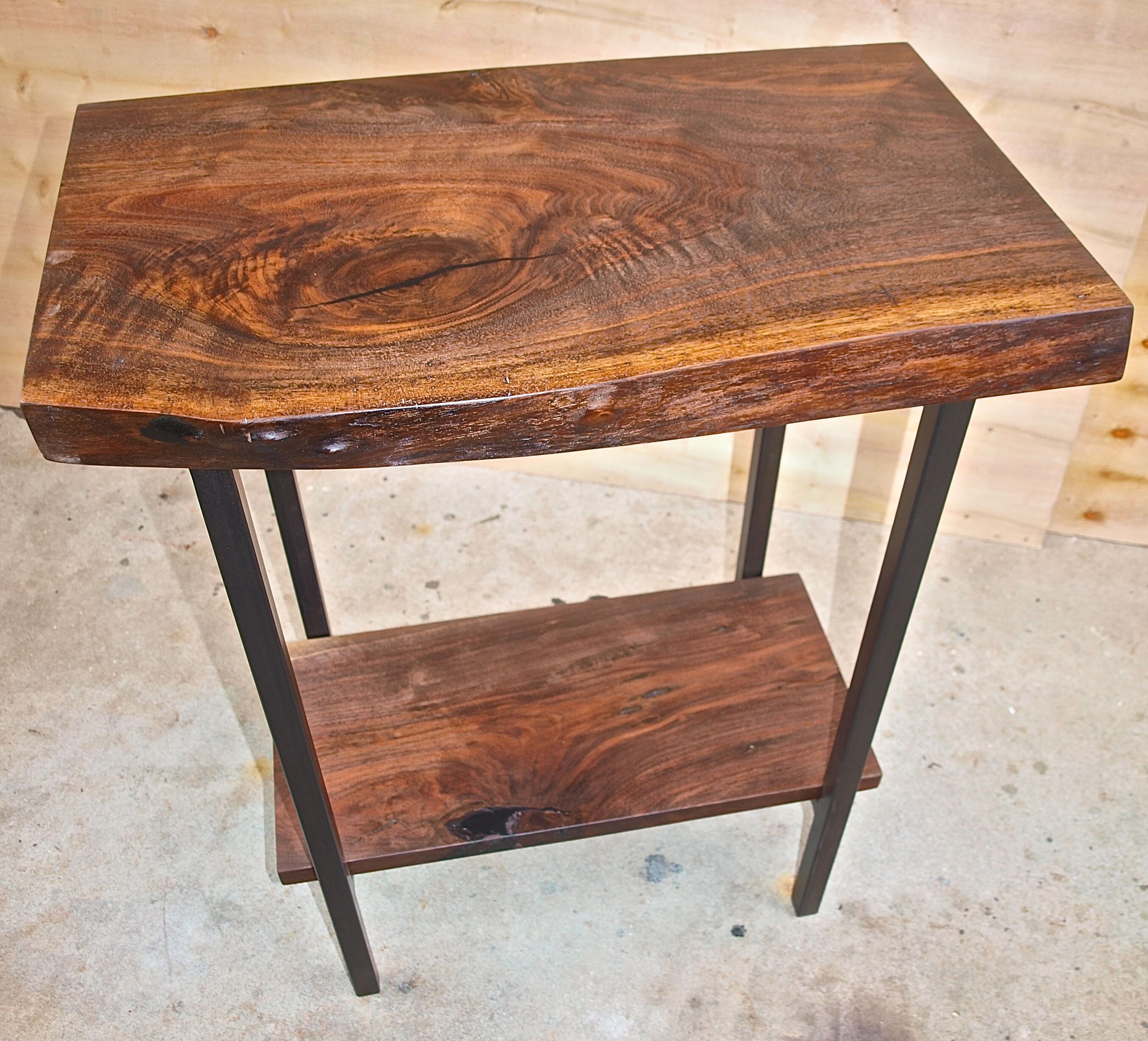Custom Live Edge Walnut Entry Table By WITNESS TREE