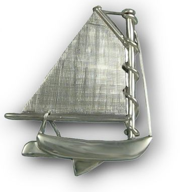 Custom Made All Silver Catboat