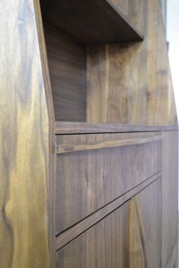 Custom Made Modern Walnut Bookcase