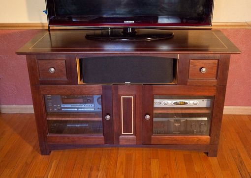 Custom Made Walnut Tv Stand