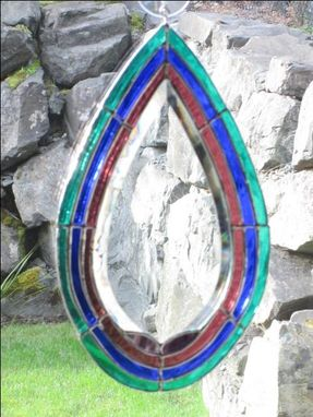 Custom Made Stained Glass And Bevel Suncatcher