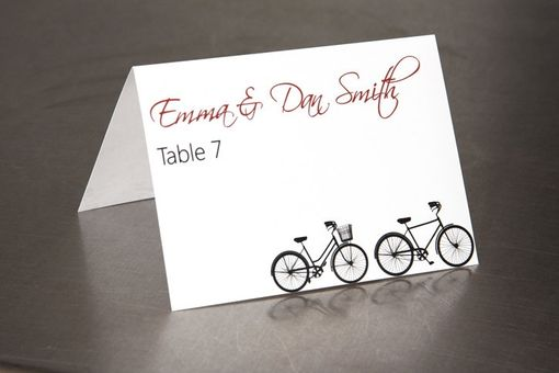 Custom Made Wedding Place Cards Escort Cards Bicycle Custom Design