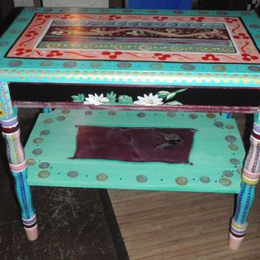 Hand Crafted Ladderback Handpainted Kitchen Chair With