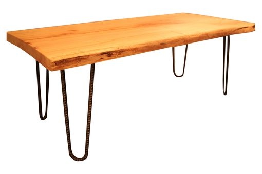 Custom Made Reclaimed Wood Coffee Table With Hairpin Legs