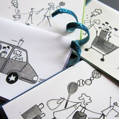 Custom Made Mom-On-The-Run Stationery Set