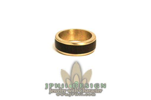 Custom Made Wood Inlay Metal Rings