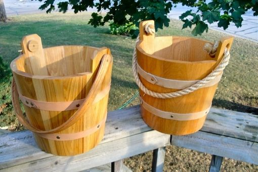 Custom Made Wooden Buckets