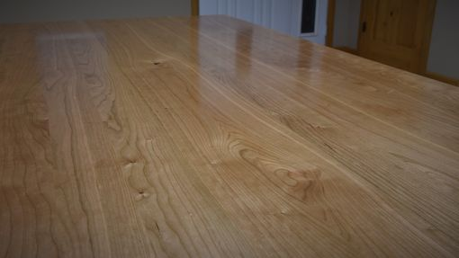 Custom Made Solid Black Cherry Wood Dining Table Top