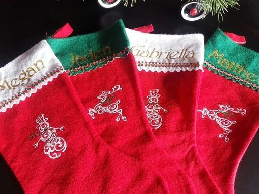 Custom Made Design Your Own Embroidered Christmas Stocking