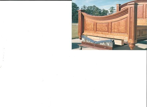 Custom Made Heart Pine Bed