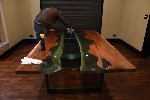Custom Made Live Edge River Dining Table