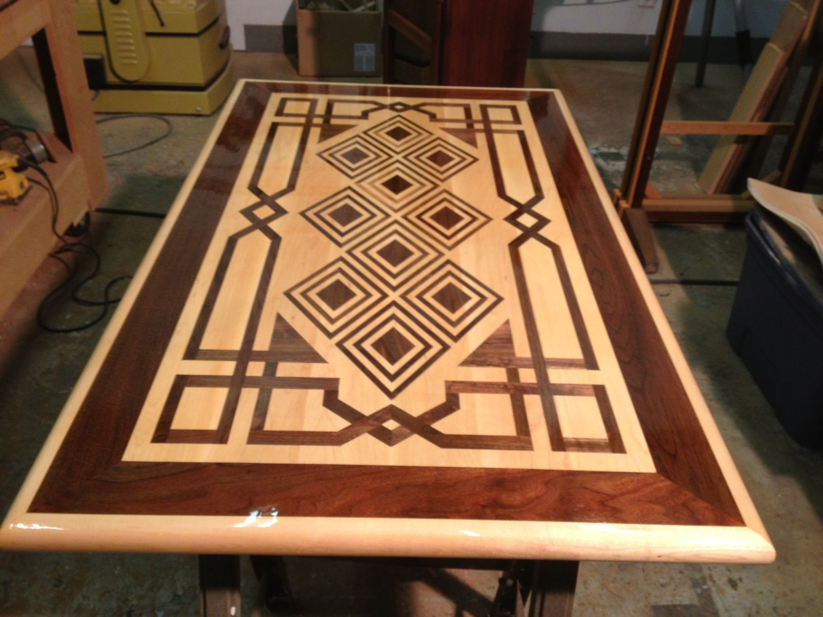 Handmade Inlay Coffiee Table By Raw Creations Cnc