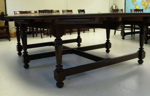 Custom Made Oval Classroom Table With Pull-Out Sliders