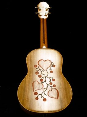 "Custom Made Blueberry ""Love"" Ukulele"