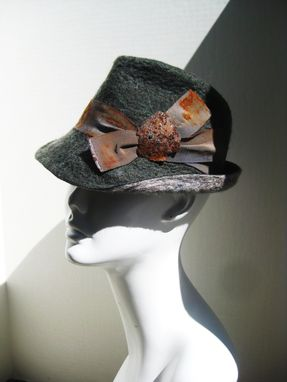 Custom Made Memorial Fedora Hat Featuring Rusted Metal From Hurricane Irene