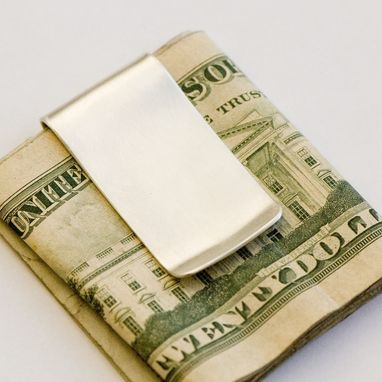 Custom Made Meaningful Silver Money Clip - Personalized