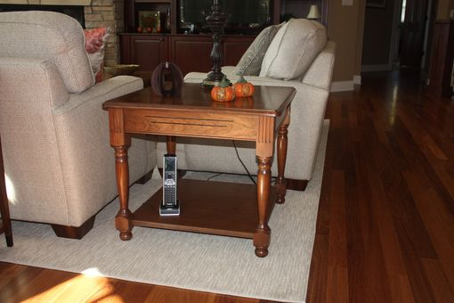 Custom Made Cherry & Ebony End Table