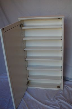 Custom Made 6 Shelf Medicine Cabinet