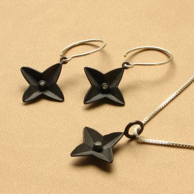 Custom Made 15 Percent Off Plus Free Shipping Set Black North Star With Cz