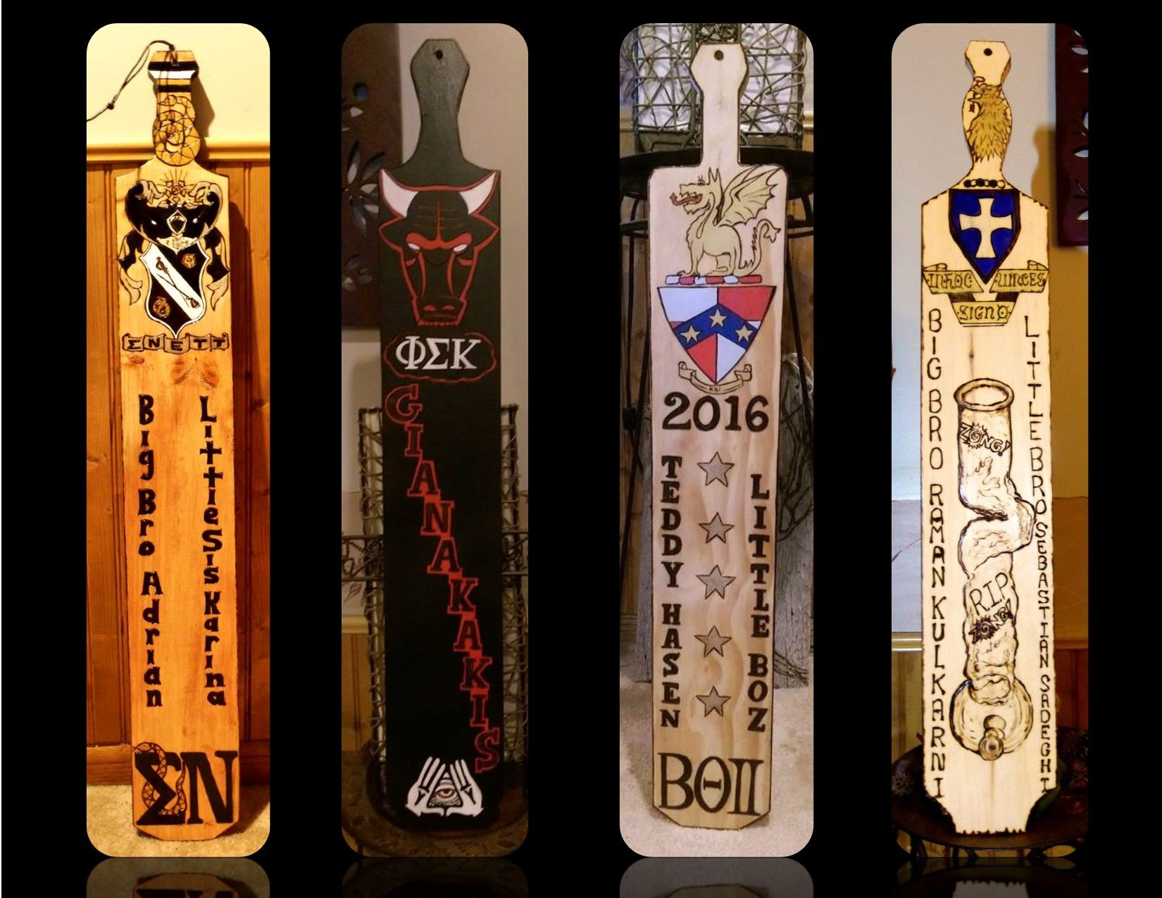 Buy Hand Made Fraternity Paddle, Big Brother Gift,Custom Paddles ...