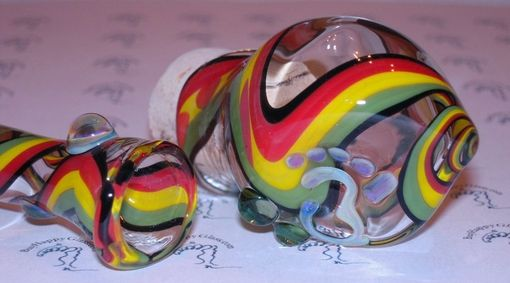 Custom Made Rasta Chillum Pipe And Jar Set Austin, Tx - Happy Hollow Glass