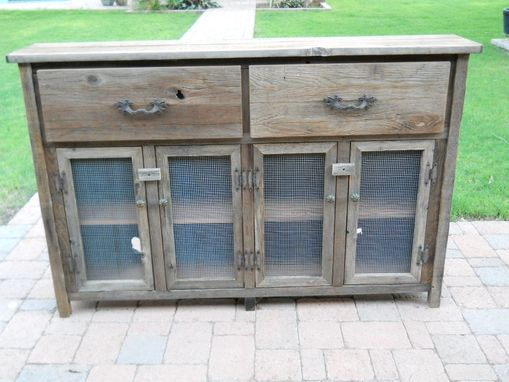 Custom Made Slim Wooden Buffet Cabinet