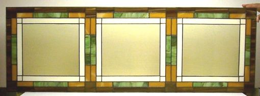 Custom Made Mission Style Stained Glass Window Panel (W-3)
