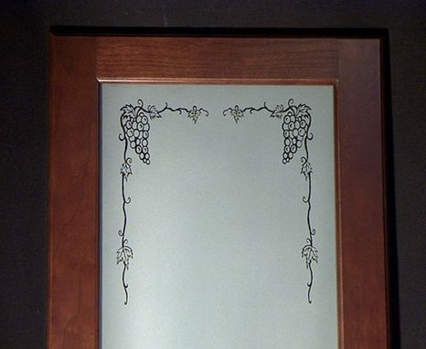 Custom Made Etched Grape Cabinets