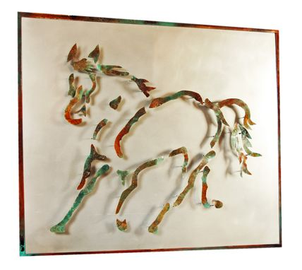 Custom Made Trotting Horse Metal Sculpture