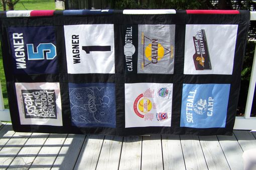 Custom Made T Shirt Memory Quilt Blanket - 12 Block