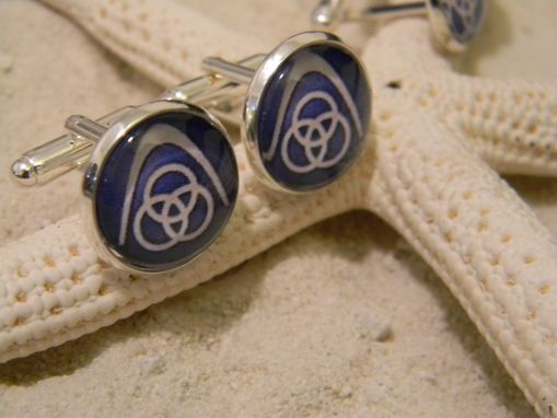 Custom Made Custom Design Sterling Silver Plated Cufflinks